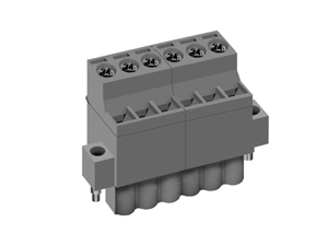 LMI 00253 INDUSTRY STANDARD PLUGGABLE TERMINAL BLOCKS WITH FRONT WIRE ACTUATION & LOCKING FLANGES