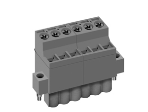 LMI 002587 INDUSTRY STANDARD PLUGGABLE TERMINAL BLOCKS WITH FRONT WIRE ACTUATION & LOCKING FLANGES