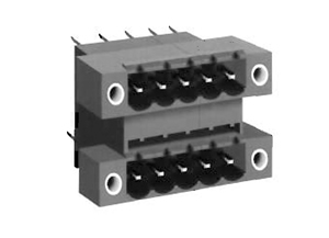 0025DFL INDUSTRY STANDARD VERTICAL WITH LOCKING FLANGES PCB HEADERS