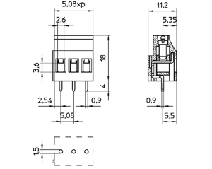 0415085 INDUSTRY STANDARD INTERLOCKING DOVE TAIL CONNECTOR