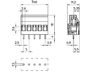 04154 INDUSTRY STANDARD SOLID MOLD CONNECTOR