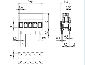 04154DP INDUSTRY STANDARD SOLID MOLD DUAL PIN CONNECTOR