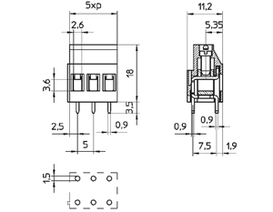 0415DP INDUSTRY STANDARD SOLID MOLD CONNECTOR