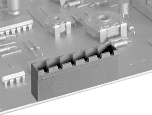 LMI 04250H HIGH DENSITY/ LOW PROFILE  VERTICAL/CLOSED ENDS PCB HEADERS