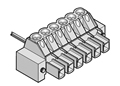 LMI 2452-31 INDUSTRY STANDARD PLUGGABLE TERMINAL BLOCKS WITH LOCKING FLANGES