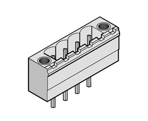 255131 INDUSTRY STANDARD VERTICAL WITH LOCKING FLANGES PCB HEADERS