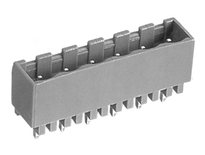 2625H INDUSTRY STANDARD VERTICAL/CLOSED ENDS PCB HEADERS