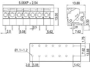 LMI 97142R INDUSTRY STANDARD HORIZONTAL/SNAP ON MODULES