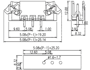 97258E INDUSTRY STANDARD WITH EJECTOR LATCHES PCB HEADERS